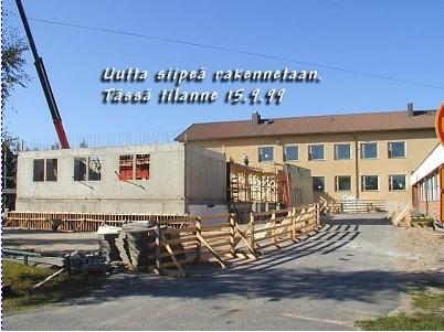 Erikoisluokkien siipi rakenteilla vuonna 1999.