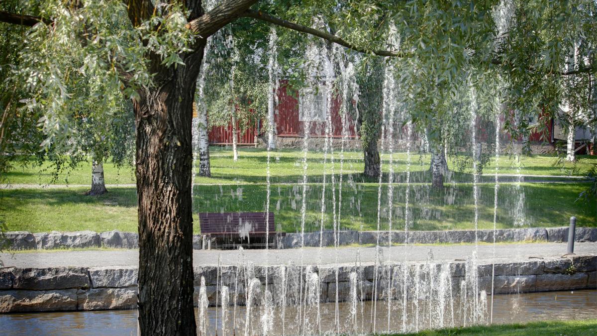 Kokkolan kaupunginsalmi Sunti ja suihkulähteet