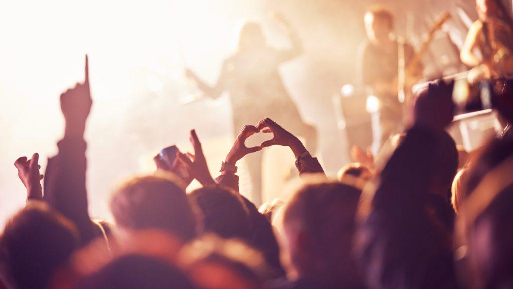konsertin yleisöä