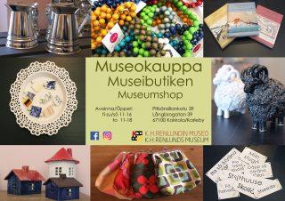 Museokaupan tuotteet esitelty