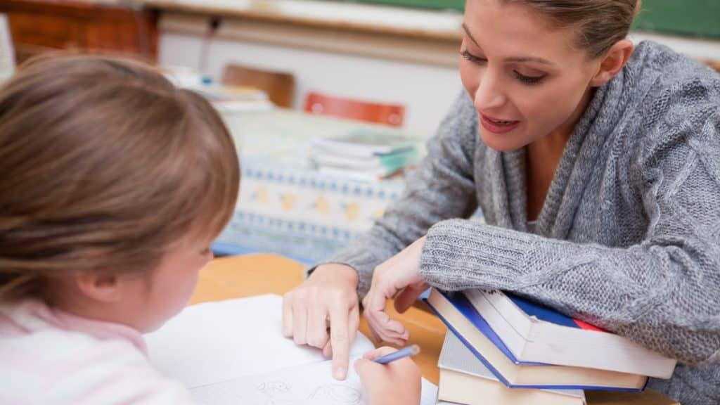 Lärare och skolelev