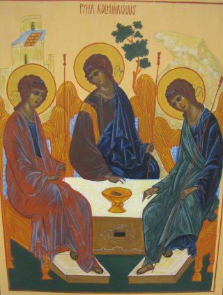 Ikoni; Pyhä kolminaisuus.