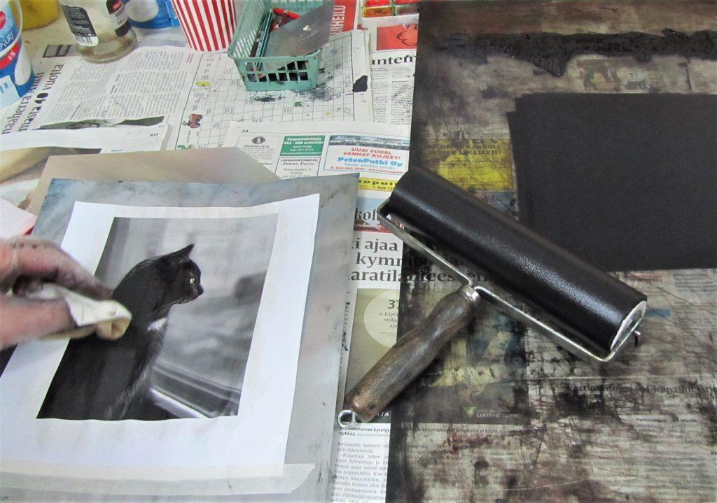 Paperilitografia -tekniikka