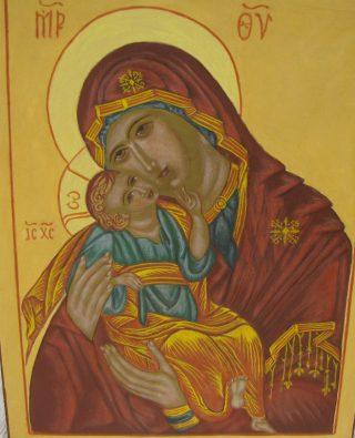 Ikoni; Maria ja Jeesus.