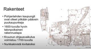 Kuvassa vanhojen rakenteiden kuvausta kartassa