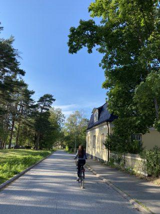 Pyöräilijä Mäntykankaalla