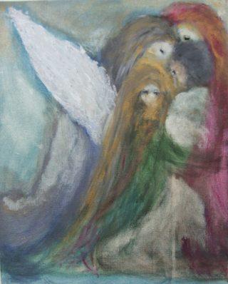 Enkeleitä kuvaava maalaus